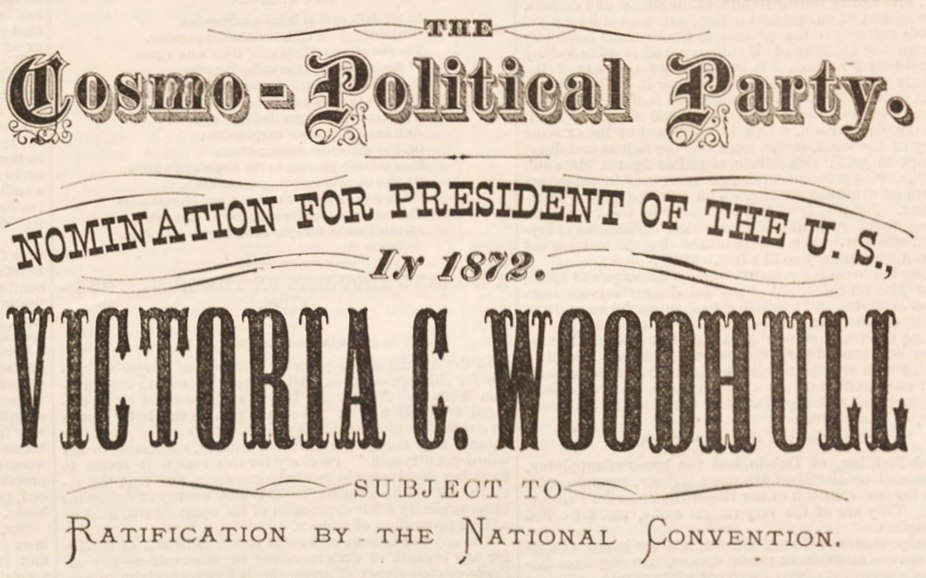 Victoria Woodhull nomination