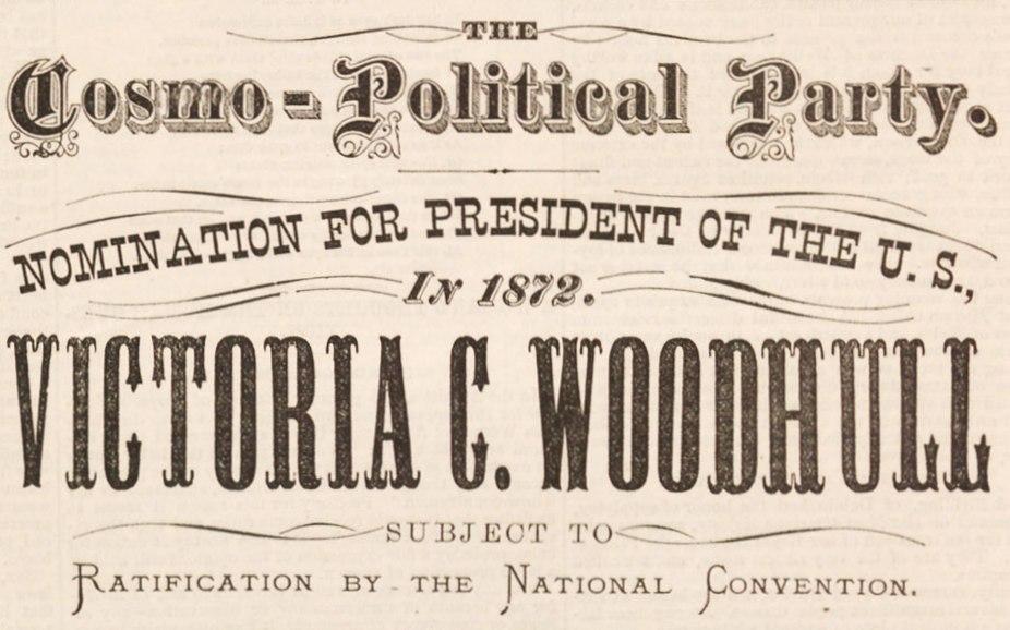 Victoria Woodhull nomination
